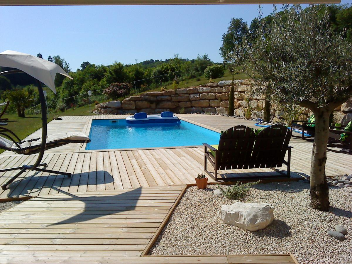 Olea paysages for Chlore libre piscine